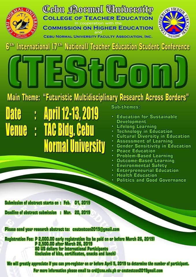 6th International (7th National) Teacher Education Student Conference TEStCON